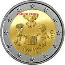2 EURO UNC COMMMORATIVE MALTE 2017 LA PAIX POUR LES ENFANTS