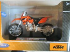 MOTO MINIATURE KTM 450 SX RACING  1/18 WELLY ORANGE