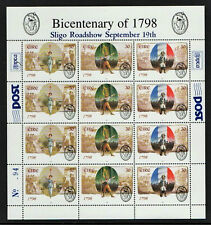 1798  BICENTENARY  1998  DX185  SLIGO  EXHIBITION SHEETLET  PANE - SCARCE