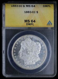 1883 CC Morgan Silver Dollar $1 ANACS MS 64 DMPL | Carson City Proof-Like