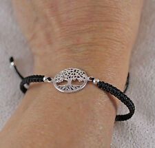925 solid sterling silver New Tree of Life on Adjustable Friendship Bracelet
