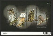 THAILAND 2013 NOCTURNAL BIRDS (OWLS) SOUVENIR SHEET OF 4 STAMPS MINT MNH UNUSED