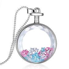 Round Transparent Glass Dried Flower Pendant Necklace Handmade Fashion Jewellery