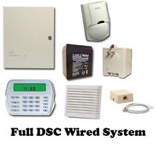 Full DSC Hard-wired Security System - RFK5501 Keypad - PC 1616 Panel - w/ motion