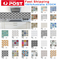 10Pcs Self Adhesive Tile Stickers Wall Sticker Art Decals Kitchen Bathroom Decor