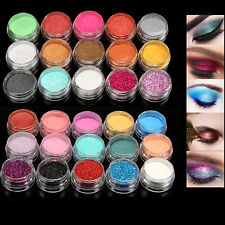 Set 30 Mixed Color Glitter Mineral Pigment Loose Eyeshadow Powder Eye Makeup Pot