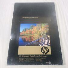 HP Advanced Photo Paper 13x19 SATIN MATTE 25 Sheets NEW SEALED Inkjet B+/A3+