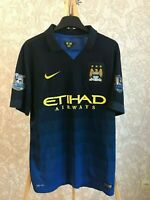Manchester City 2014/2015 away Size L Nike shirt jersey maillot soccer football