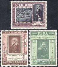 Perú 1957 telegráfico 100th/comunicación/equipos/puerto/Comercio 3 V (n43970)