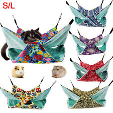 Hb- Pets 2Layers Hammock House for Ferret Rat Hamster Parrot Squirrel Hanging Be