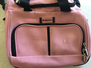DELSEY PINK CARRY ON TRAVEL BAG luggage SHOULDER tote SUITCASE spacious ZIPPER