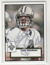 TODD BOUMAN NEW ORLEANS SAINTS 2006 TOPPS HERITAGE #184 AUTOGRAPHED CARD