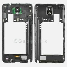 US Samsung Galaxy Note 3 N900V N900P Back Middle Frame Rear Housing  Camera Lens