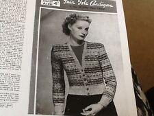 Bestway Shetland 3 capas Fair Isle Vintage Cardigan Ladies Tejer patrón 36-38