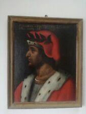 Ritratto olio su tela poeta Pindaro scuola toscana XVII secolo restaurato