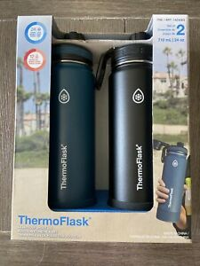 Brand New In Box ThermoFlask Water Bottle Leakproof Spout Lid 24oz 2pack 1424563