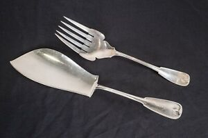 Tiffany & Co Sterling Silver Palm 1871 Fish Slice Serving Knife and Fork Service