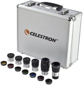 "CELESTRON 1.25"" 14 Piece Eyepiece & Filter Accessory Kit with Case 94303"