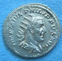 ROME Heavy Antoninianus Denarius PHILIP I ARAB ROMA Silver About XF - EF