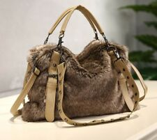 Women's Winter Faux Fur Handbags Large Crossbody Shoulder Satchel Bags Casual