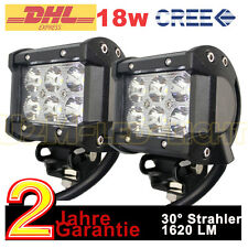 2x4inch 18W Cree LED Spot Light Bar Car Driving Work Lamp Truck Offroad UTE 4WD