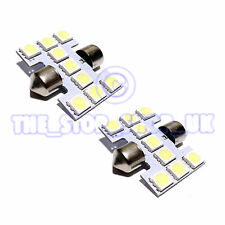 2x Replacement 9 LED 28mm Interior Lamp Light  ICE White Bulbs (DA3150509A)