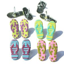 FLIP FLOP BRADS ** 4 COLORS ** 4 PAIRS ** PINK YELLOW BLUE ** SEE MY STORE