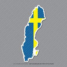 Etiqueta engomada de la bandera de mapa sueco-Suecia-auto-Laptop - Macbook Notebook - 2948