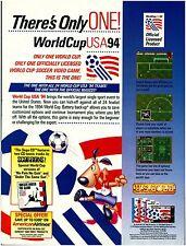 Vtg. 1994 World Cup Soccer USA Nintendo Sega video game magazine print ad page