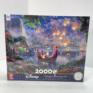 Ceaco Thomas Kinkade The Disney Collection Tangled 2000 Piece Jigsaw Puzzle NEW
