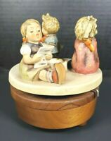 Vintage 1968 Goebel Hummel Rotating Music Box Candle Hldr Dr Zhivago *SEE VIDEO*