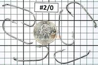 100x #2/0 Baitholder Fishing Hooks Offset Strong Chemically Sharpened Jig USA!