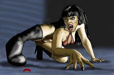 Vampirella mad sexy vampire horror comics art 11x17 signed print Dan DeMille