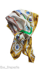 *PUCCI* VINTAGE ITALIAN AIR FORCE COATS OF ARMS SILK TWILL SCARF 89cm