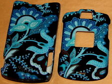 flower blue Motorola V3 V3M v3c RAZR phone Faceplate Cover case SNAP ON HARD