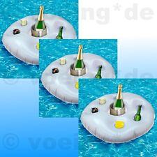 3x Aufblasbarer Getränkehalter Getränke-Halter Getränkeinsel Poolbar Getränkebar