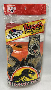 Jurassic Park Underwear Fruit Of The Loom Size 4 Boys Funpals Collectable Seals
