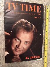 Vintage TV Time Newsmagazine Sep 1 - 7, 1951 Vol. IV No. 12 Cover Al Jarvis