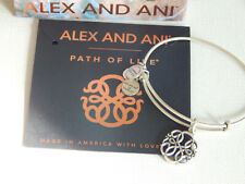 Silver Tone Alex and Ani Path of Life Bracelet NWCB