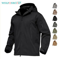 Mens Waterproof Jackets Army Military Tactical Jacket Thermal Coat Fleece Parka