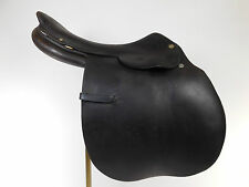 "16"" Hermes Steinkraus Vintage Leather Saddle Jumping Riding 4"" Dot Spread MM304"