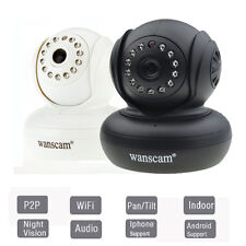 Wireless Pan Tilt IP Camera Night Vision iPhone Android View 12LED IR Dual Audio
