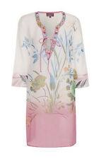 Womens Ombre Flower Kaftan Boutique New Ladies Chiffon Beaded Beach Cover Up