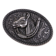 Cowboy Horseshoe Buckles for Men Vintage Horse Head Belt Buckle Western