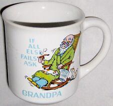 "Cup 3 1/2"" Ceramic Humor - If All Else Fails Ask Grandpa Mug"