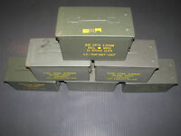 SURPLUS M2A1 50 CAL AMMO CANS - LOT OF 6 - FINALLY BACK!  ONLY $82.95 + SHIPPING