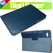 SAMSUNG GALAXY TAB 7.7 P6800 P6810 CUSTODIA Eco Pelle BLU con supporto Stand