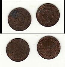 DUO de qualité 1 centimes ceres 1877 A et 1896 A quasi SPL