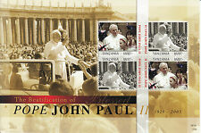 Tanzania 2010 MNH Beatification Blessed Pope John Paul II 4v M/S 1920-2005