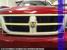 GTG 2008 - 2011 Dodge Dakota 4PC Gloss Black Upper Overlay Billet Grille Kit
